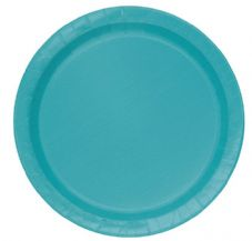 "16 Teal Paper Party Plates 9""/23cm"